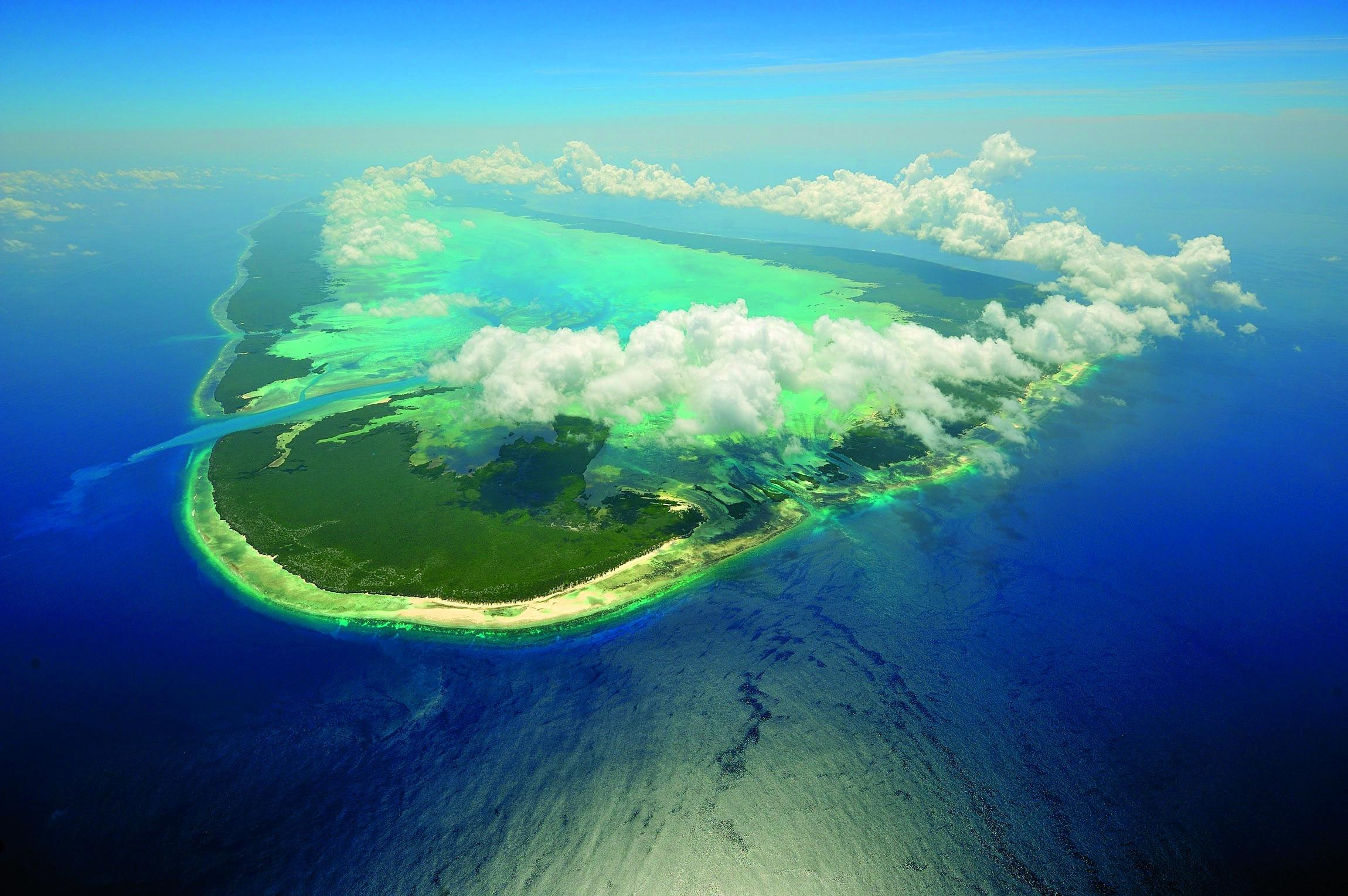 Marakei Island Aerial View