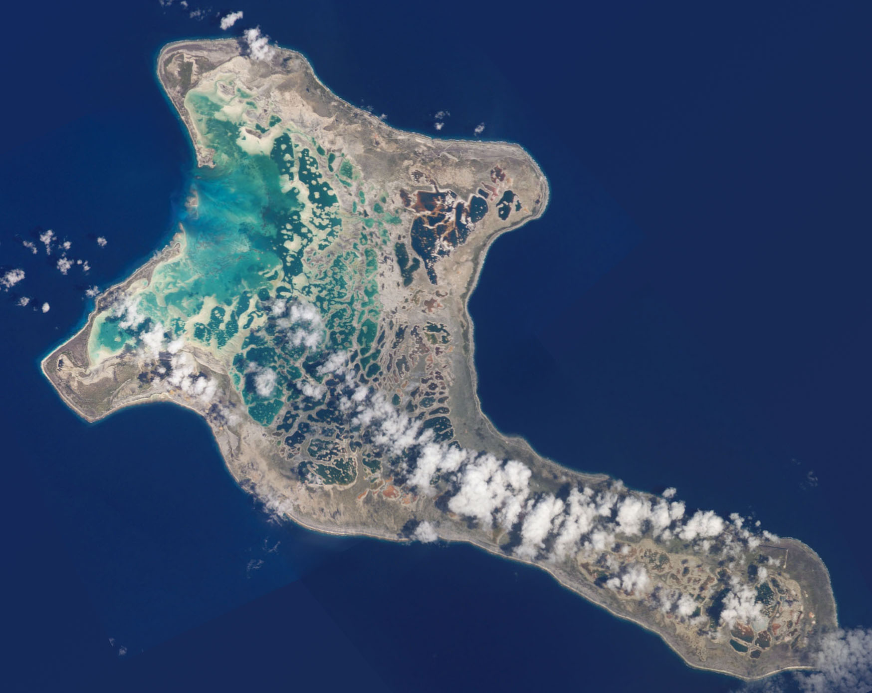 christmas island from google earth