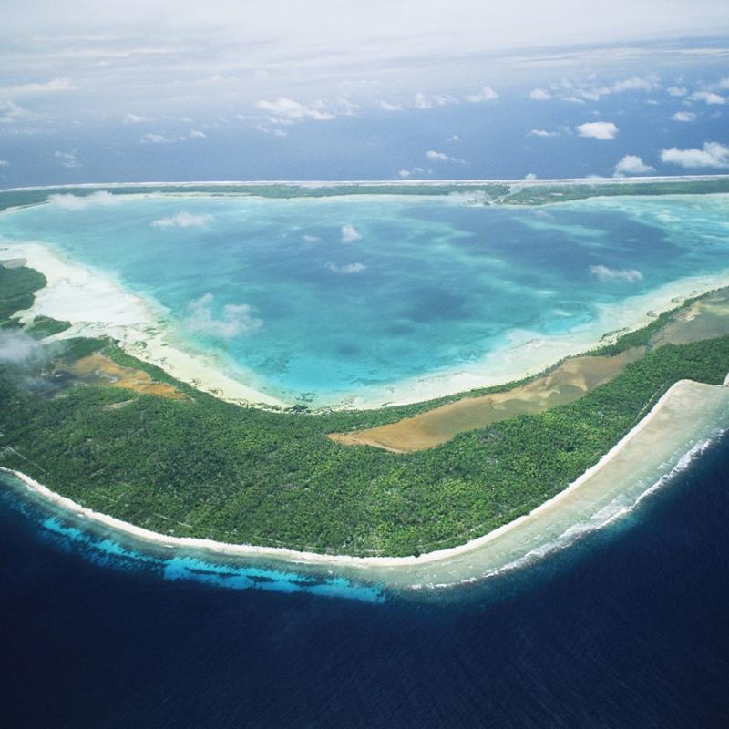 Gilbert Island Aerial View